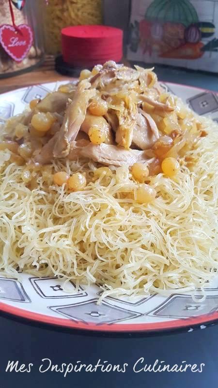 Rechta au poulet (sauce blanche), cuisine algérienne