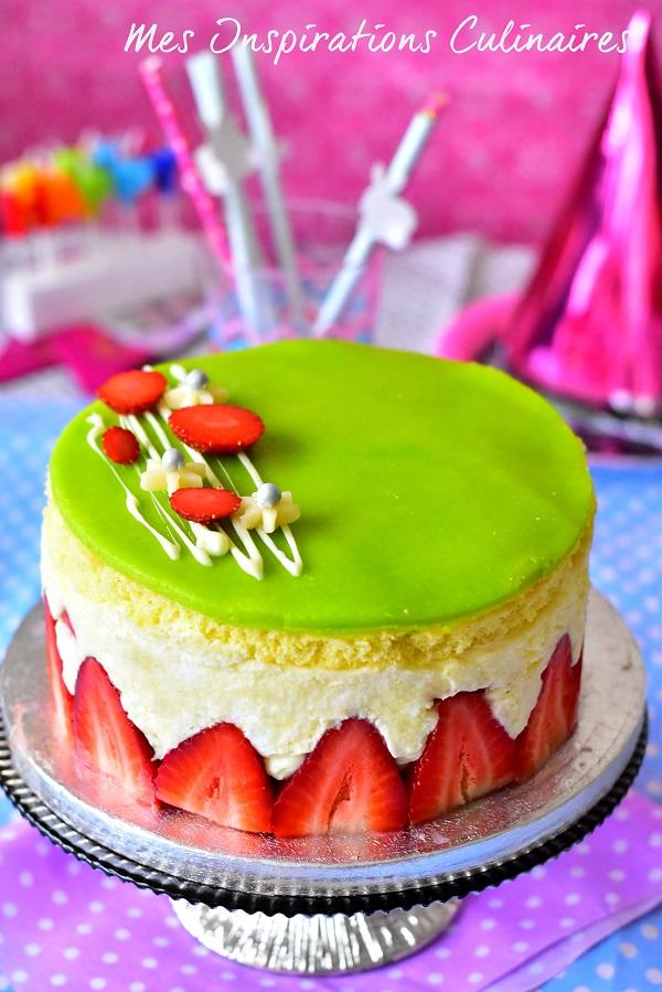Recette fraisier, gâteau aux fraises facile