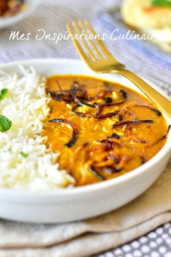 Dahl de lentilles cuisine indienne