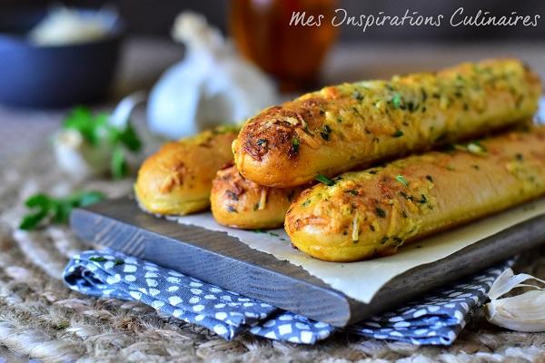 Les breadsticks au fromage