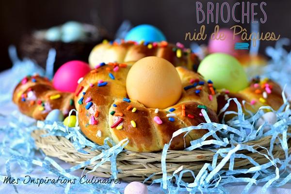 Brioches nids de Pâques italienne
