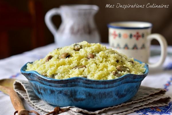 Couscous Kabyle aux fèves et huile d'olive