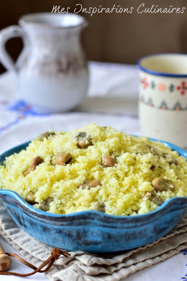 Couscous Kabyle aux fèves a l'huile d'olive