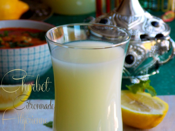 cherbet citronnade algerienne 1