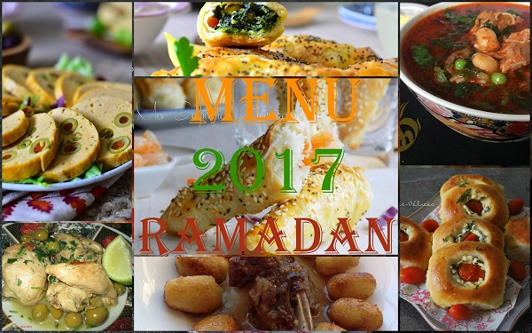 Menu ramadan 2017 id es ftour le blog cuisine de samar - Blog de cuisine orientale pour le ramadan ...