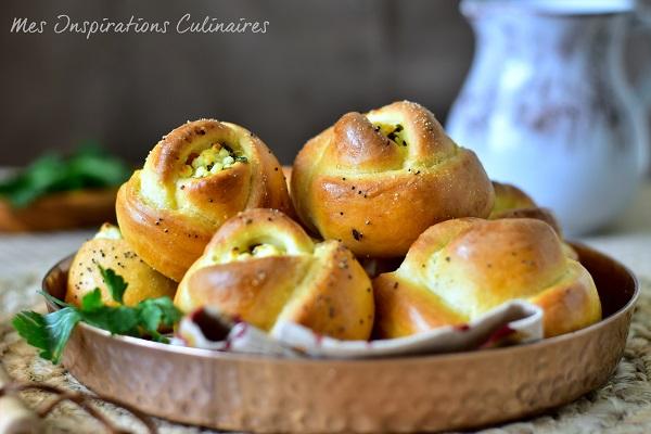Poğaça petits pains turcs feta persil