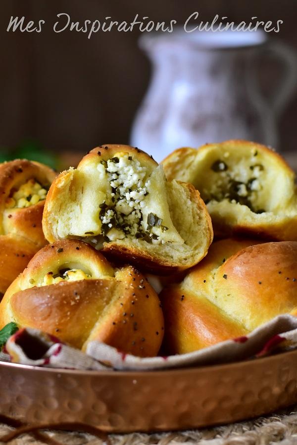 petits pains turques feta persil, Poğaça