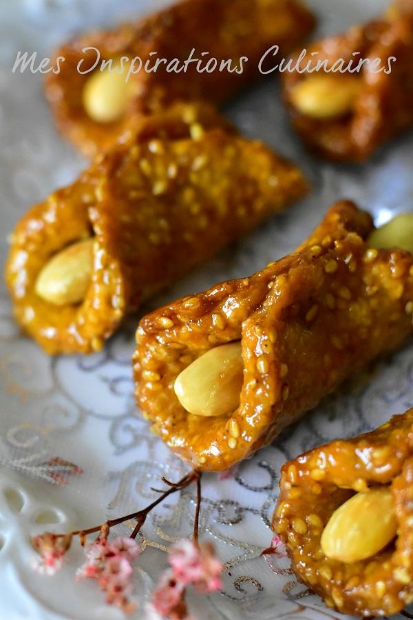 Babouches gâteau au sésame et miel