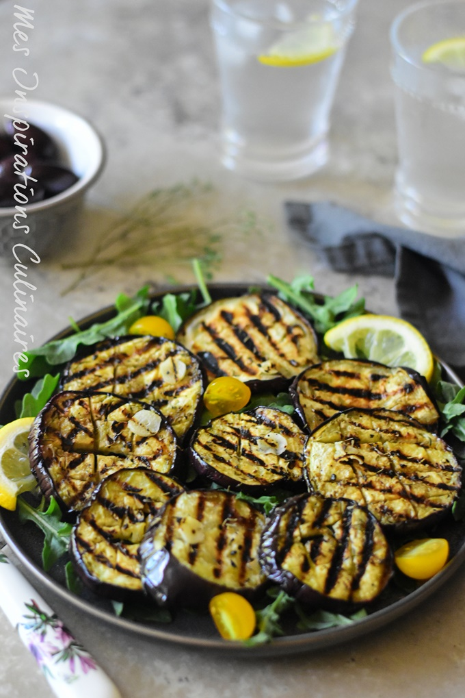 Aubergines Grillees A L Huile D Olive Ail Et Au Thym