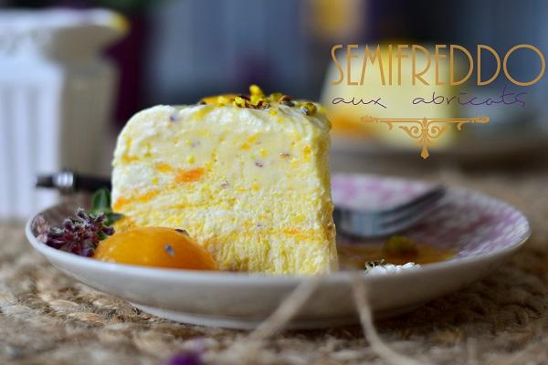 Semifreddo aux abricots et pistache