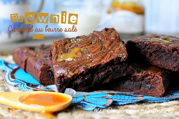 Brownie chocolat caramel au beurre salé