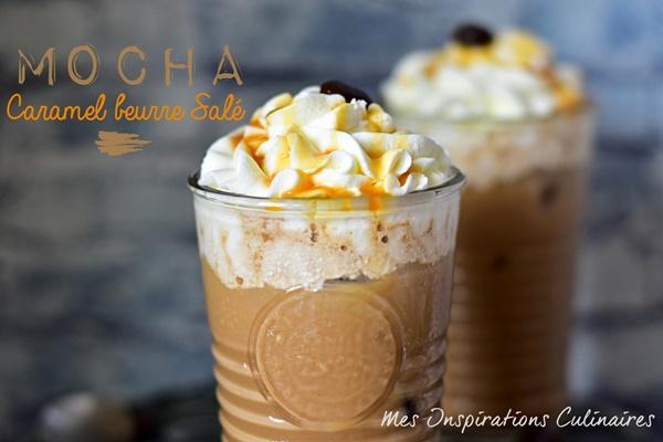 Café mocha au caramel beurre salé