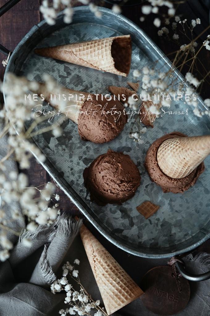 Glace au chocolat ultra facile