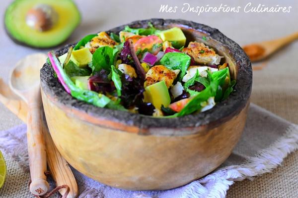 Salade mexicaine au poulet grillé et avocat