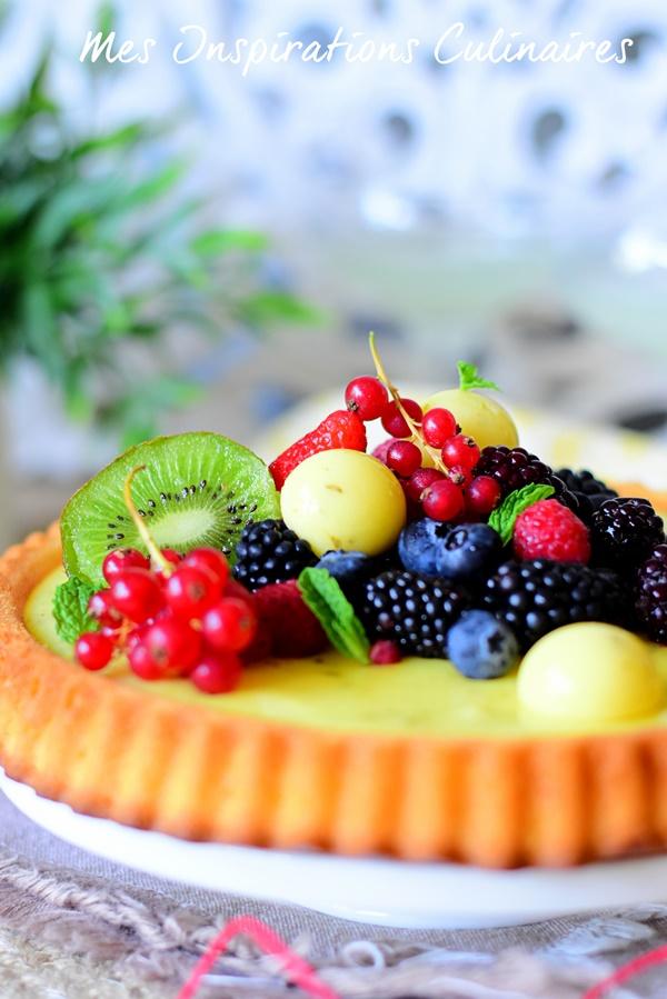 Tarte génoise aux fruits au yaourt