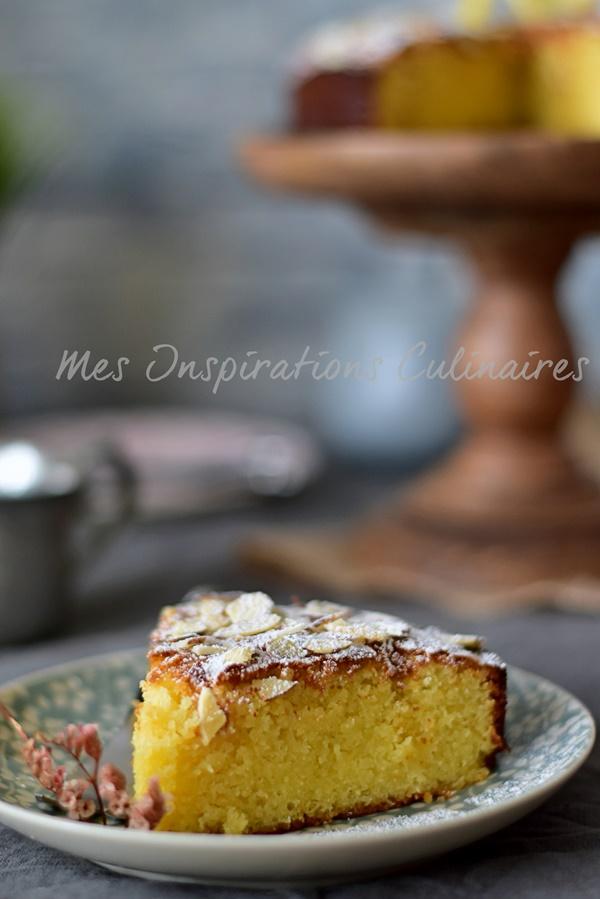 Torta caprese au citron et chocolat blanc