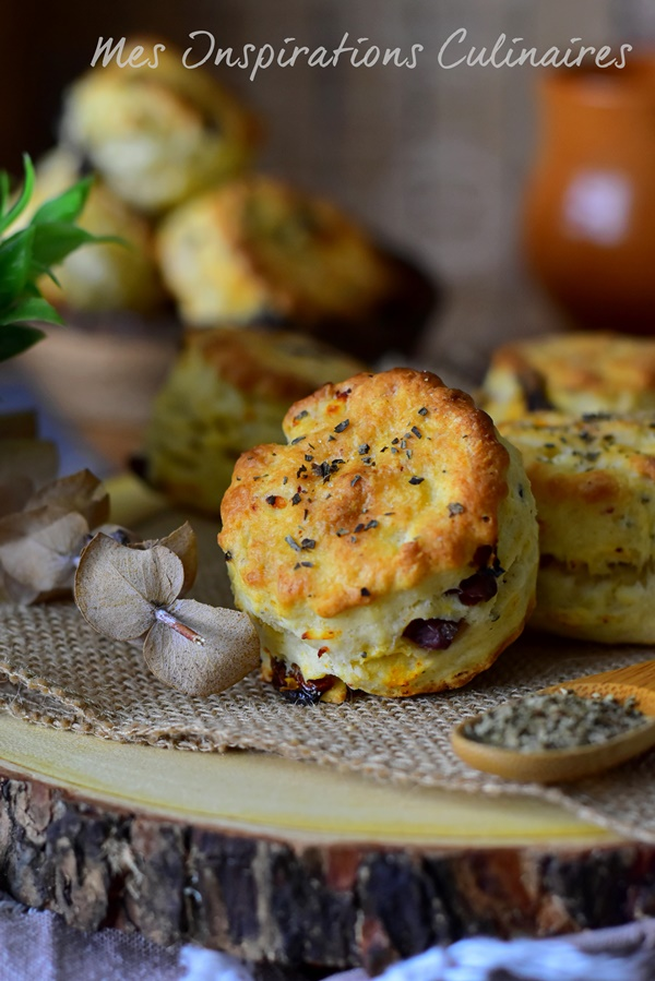 Recette Biscuits salés tomates séchées olive-feta