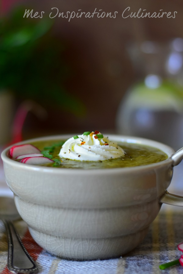 Soupe fanes de radis : recette saine