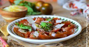 recette carpaccio tomate basilic1