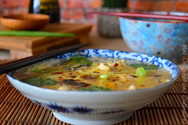 Recette Soupe Chinoise Au Poulet Le Blog Cuisine De Samar
