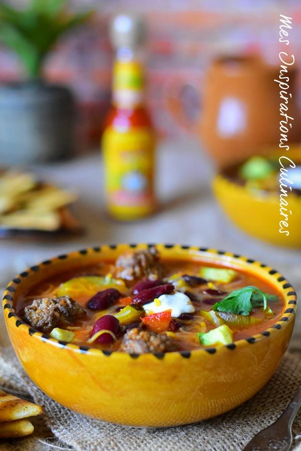 Soupe Texane aux haricots rouges et boulettes