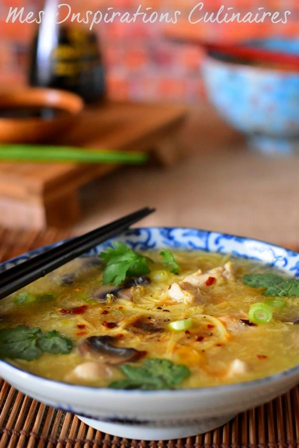 Recette soupe chinoise au poulet
