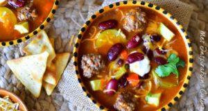 soupe texane aux boulette et haricots rouges1