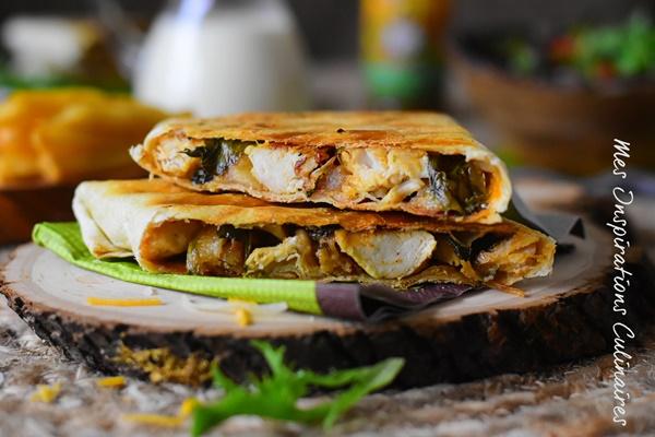 Tacos au poulet sauce fromagère