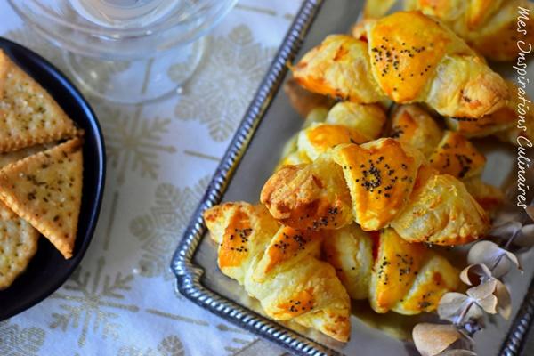 Croissants feuilletés au saumon