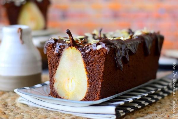 Gâteau chocolat poires entières