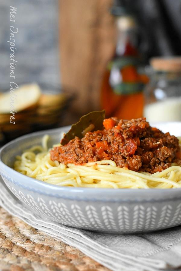 Spaghetti Bolognaise, pâte bolognese