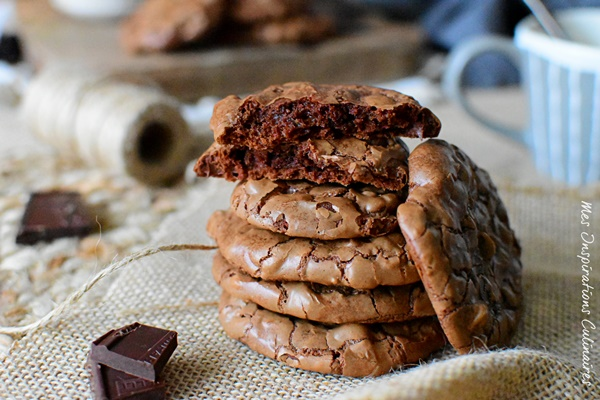 Les cookies brownies au chocolat