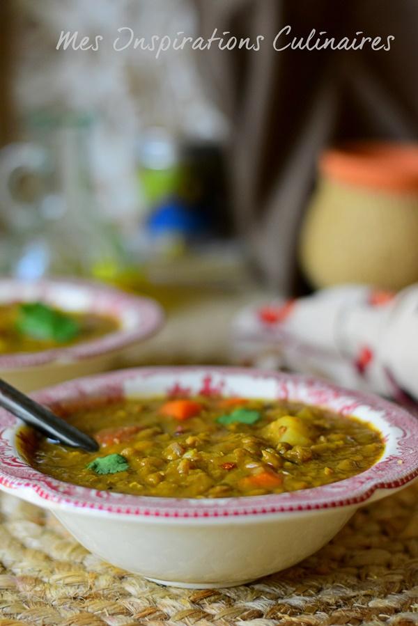 recette soupe de lentilles aux carottes et pomme de terre