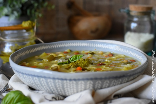 Recette de la Soupe au pistou traditionnelle provençale au basilic