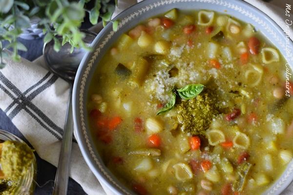 Soupe au pistou au basilic fait maison