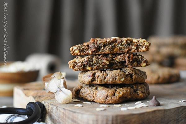 cookies aux flocons d'avoine et noix