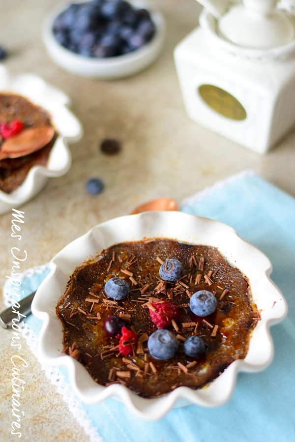 Recette Crème brulée au chocolat facile