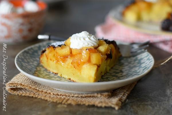 Gâteau à la poêle (sans four) aux pommes