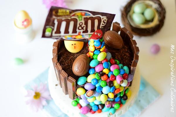 Le gravity cake, gâteau au chocolat pour pâques