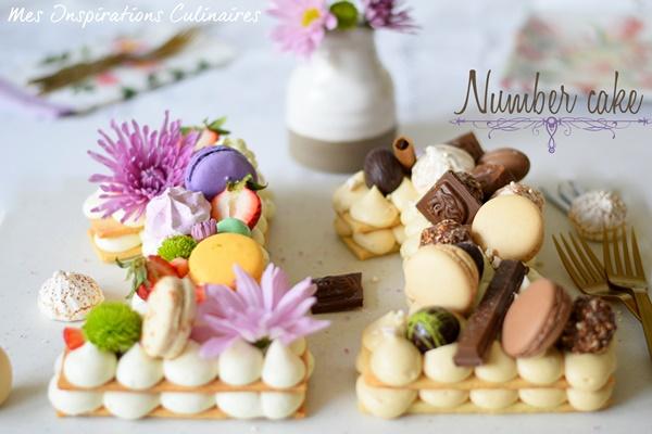 Le number cake, gâteau d\u0027anniversaire