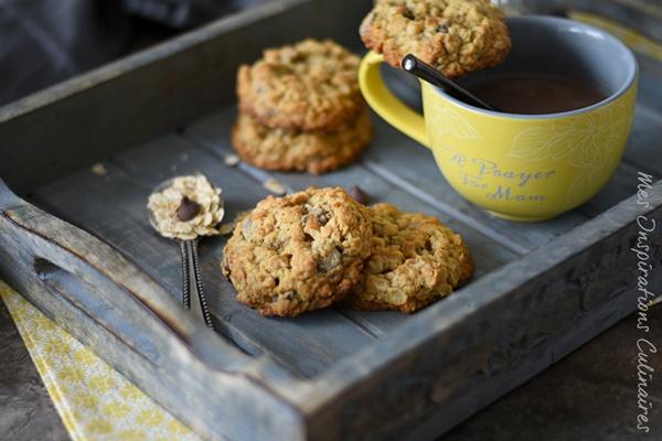 Cookies pépites de chocolat et flocons d'avoine