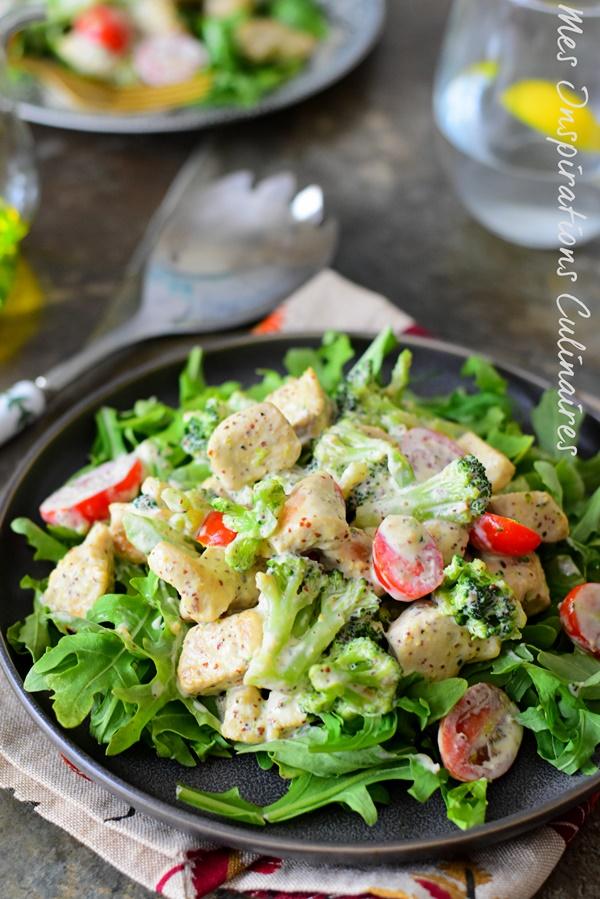 Recette Salade de poulet à la moutarde