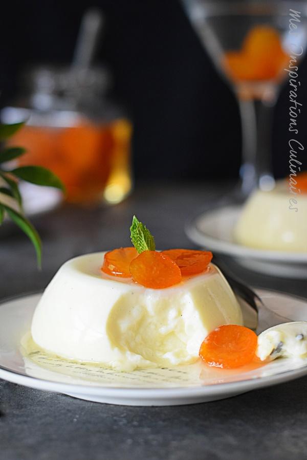 Panna cotta vanille et kumquat confit