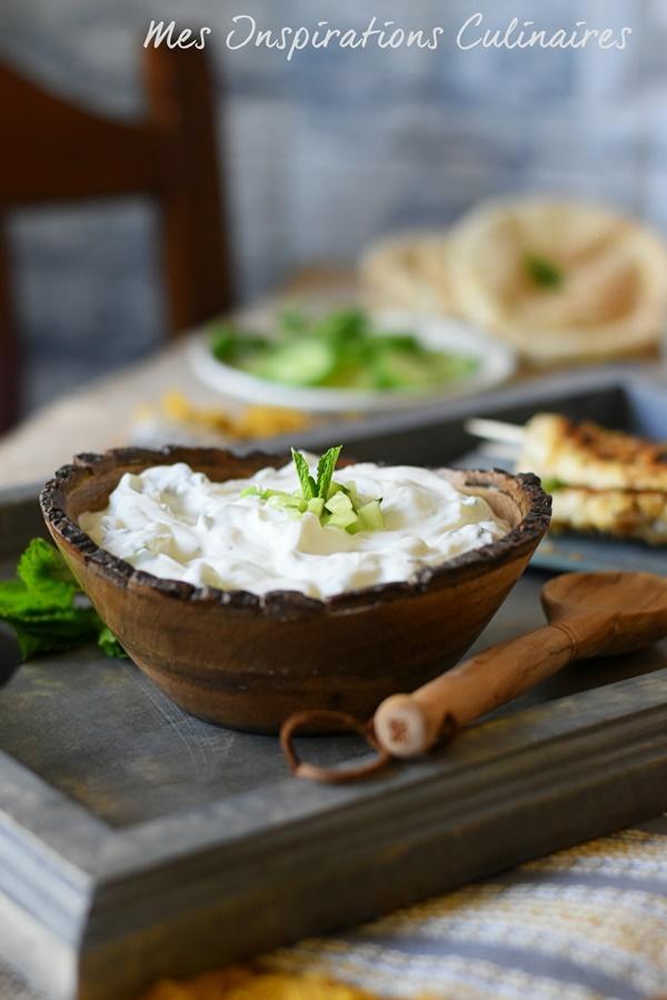 Sauce concombre au yaourt libanaise