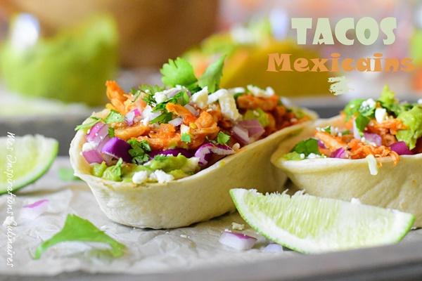 recette Tacos mexicain au poulet Tinga