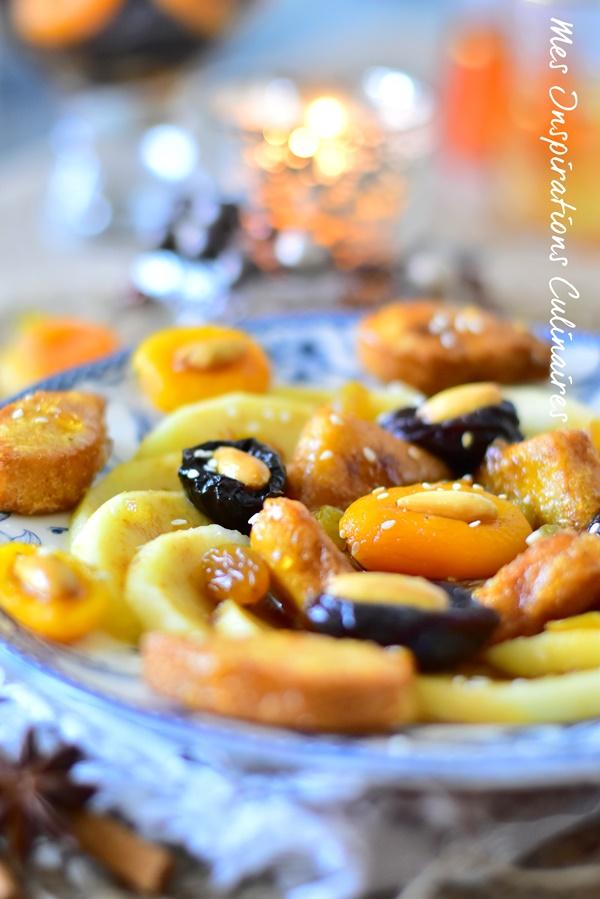 Tajine Lahlou aux pommes et abricots et chbehs