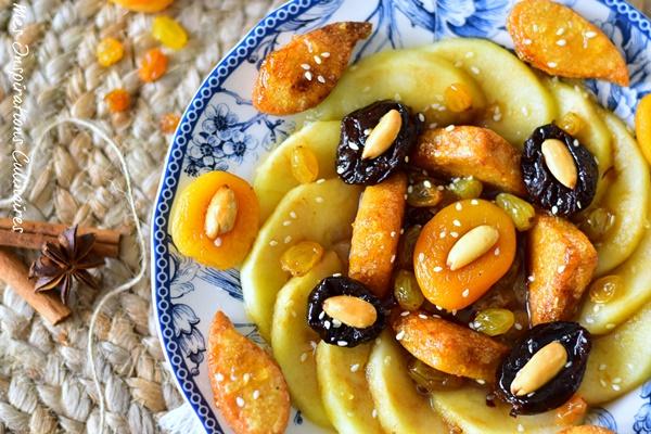 Tajine Lahlou aux pommes et abricots