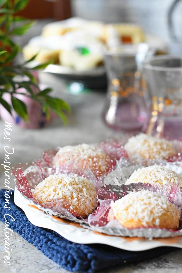 Recette boule de neige gâteau algerien à la noix de coco