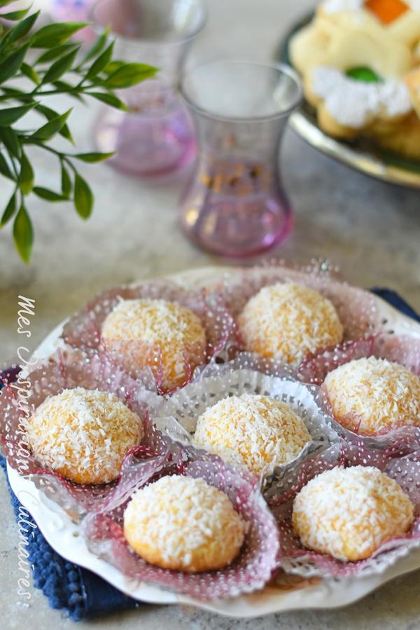 boule de neige, gâteau algerien à la noix de coco