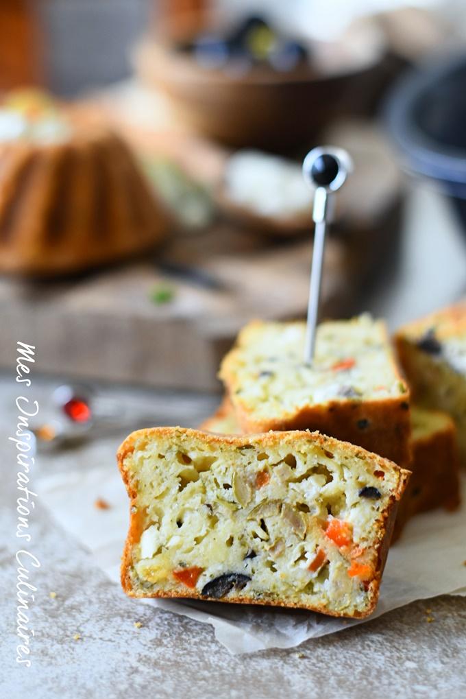 Cake salé façon grecque
